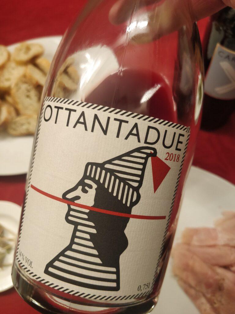 Etiquette de l'Ottantadue, le seul vin du domaine qui n'a pas de Caberlot