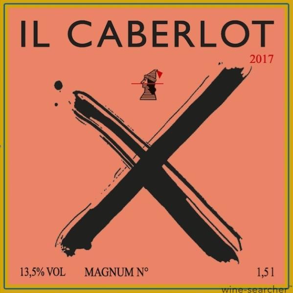 Etiquette du premier vin Il Caberlot 2017